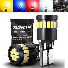 T10 w5w lâmpada led canbus livre de erros 5w5 led luz de sinal super brilhante 194 168 interior do carro luzes leitura mapa cúpula lâmpada auto