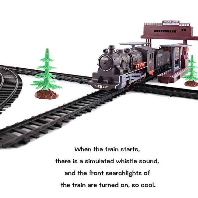 Trains électriques classiques Vihcle chemin de fer motorisé piste trienne modèle jouet enfants jouets pour enfants Train ferroviaire simulé