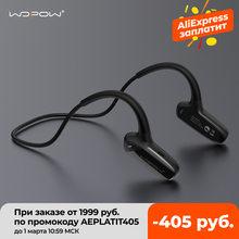 Wopow condução óssea fones de ouvido bluetooth sem fio fone de ouvido com microfone hd som estéreo 8 horas à espera à prova dwaterproof água esportes fone