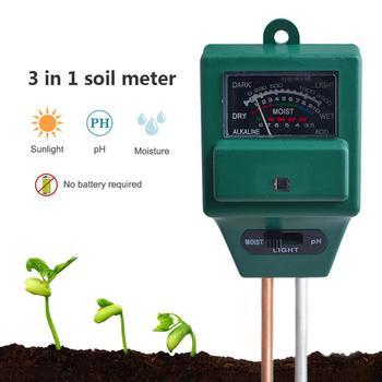 3 in1 roślina ogrodowa kwiaty Tester PH gleby rośliny wzrost wilgotności miernik natężenia światła Instrument narzędzie do testowania tanie i dobre opinie Z tworzywa sztucznego