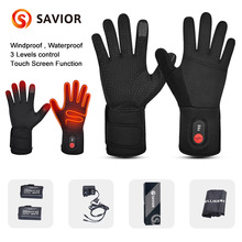 Winter Warm Cycling Heated Gloves Liners Rechargeable Battery for MTB Riding Skiing Hiking Motorcycle Gloves Men Women 2021