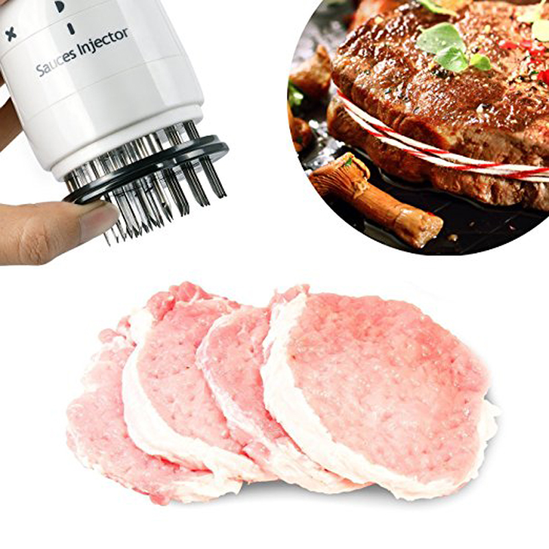 Из нержавеющей стали мясной тендеризатор иглы барбекю мясо инжектор маринада вкус шприц кухонные инструменты