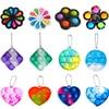 Rotation Floral Pop Fidget Reliver Stress Toy Rainbow Push Its Bubble Antistress Toys Children Sensory Toys To Relieve Autism