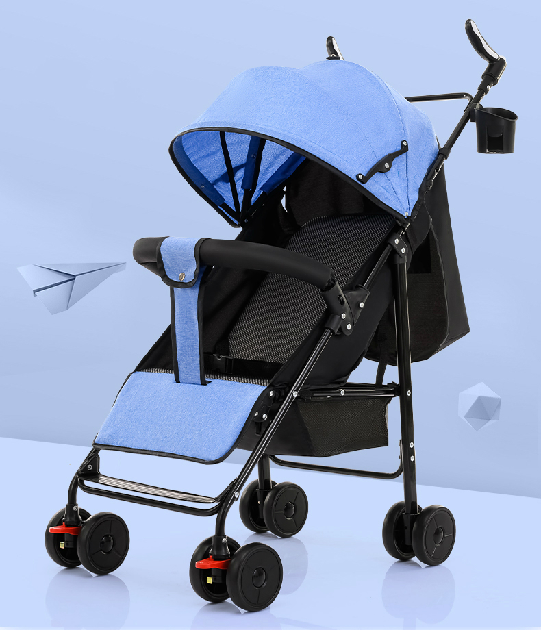 Pram Can Sit Down, Lie, Baby, Big, Foldable Baby, Simple Shock Absorber, Trolley, Pocket Umbrella