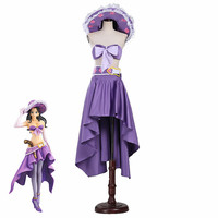 One Piece Cosplay Kids Adult 15 Anniversary Purple Nico Robin Dress Cosplay Costume Custom Made Halloween Christmas Fancy Dress