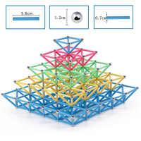 Big Size 3D DIY Magnet Bars Metal Balls Magnetic Designer Magnet Construction Building Blocks Educational Toys for Children Gift