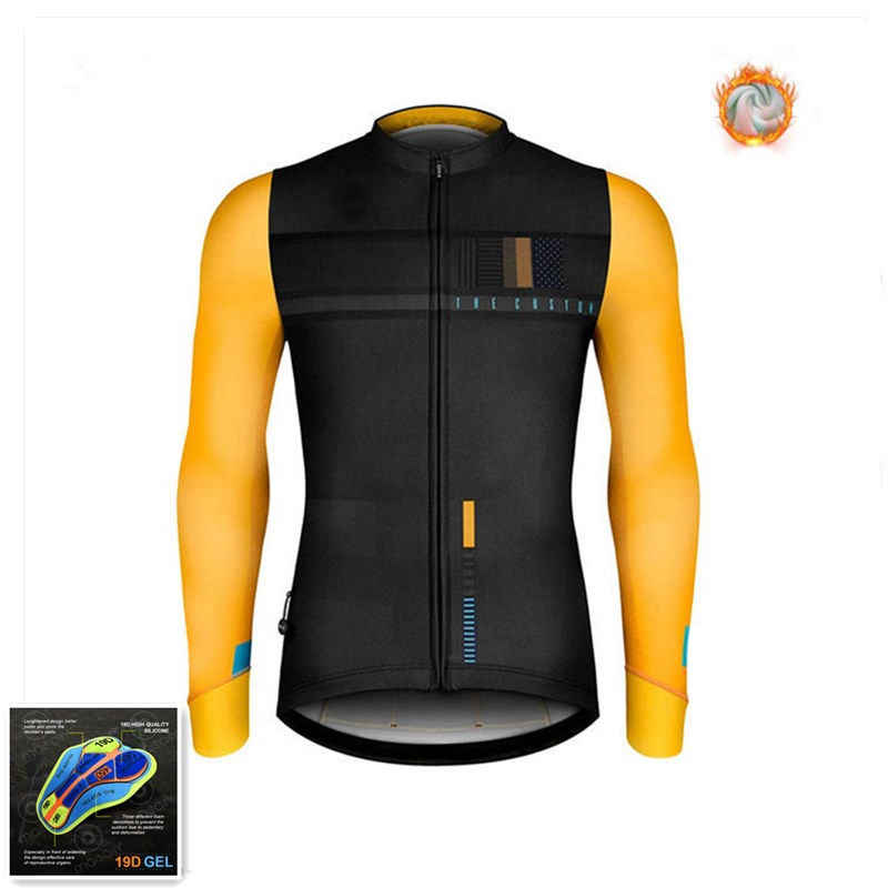 2020Winter Cycling Clothing Gobike Long Sleeve Sweatshirt Extremely Geothermal Vest Winter Cycling Clothing Bike Uniform