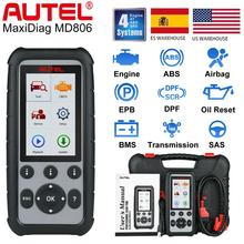 Autel MaxiDiag MD806 OBD2 진단 도구 코드 리더 스캐너 ABS SRS EPB DPF