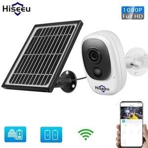 Беспроводная камера с питанием от солнечной батареи, 1080P, Wi-Fi, IP, водонепроницаемая, с питанием от солнечной батареи