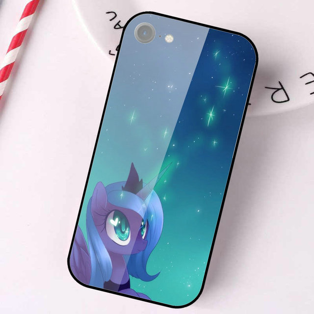 cool cartoon my little pony Princess Luna Shoes Tempered Glass Phone Cases for iPhone 5 5S SE 2020 6S 6 Plus 7 7Plus Coque