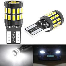 T10 w5w lâmpada led 3014 smd 168 194 acessórios do carro luzes de folga lâmpada leitura auto 12v 24v branco âmbar azul vermelho motocicleta