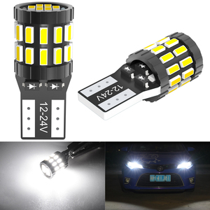 T10 W5W LED Bulb 3014 SMD 168 194 Car Accessories Clearance Lights Reading lamp Auto 12V 24V White Amber Blue Red Motorcycle(China)