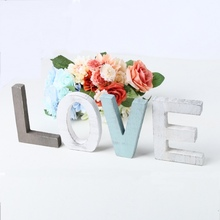 LOVE Freestanding Decorative Wooden Letters Sign Rustic Home Decorations For Wedding Housewarming Gift Letras Decorativas