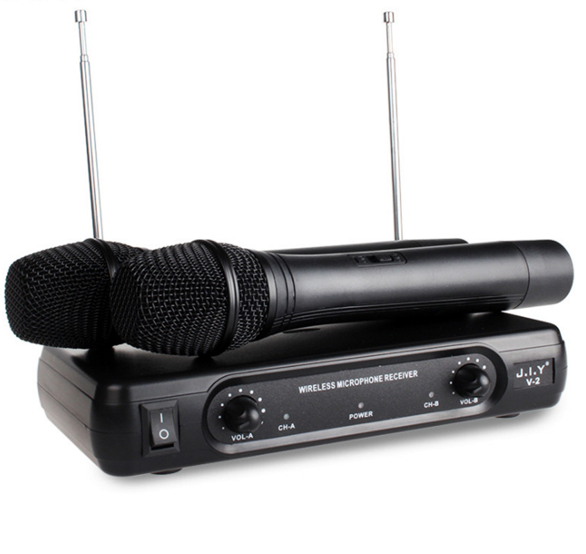 2 Handheld UHF Frequencies Dynamic Capsule 2 channels Wireless Microphone for Karaoke System Microfone Sem Fio Mic Micro