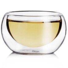 Профессиональные 6 шт 50 мл прозрачная Питьевая здоровая чашка термостойкая двухслойная чайная чашка с водой и цветами чайные чашки