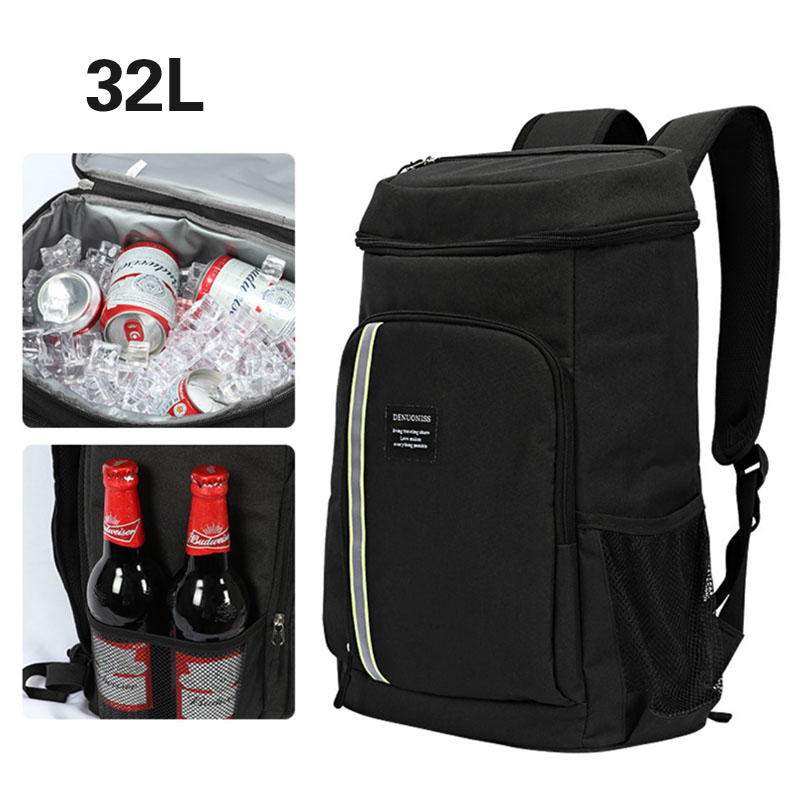 33L large cooler bags cake takeaway box freezer backpack fast food pizza delivery incubator ice bags meal package car lunch box