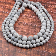 Wholesale Fashion Jewelry Frosted Map Stone 4/6/8/10 / 12mm Suitable For Making Jewelry DIY Bracelet Necklace