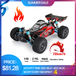 New Rc Car 4WD Racing Cars Competition 70KM/H Metal Chassis Brushless Motor Radio Control High Speed Drift WLtoys Toys For Boys