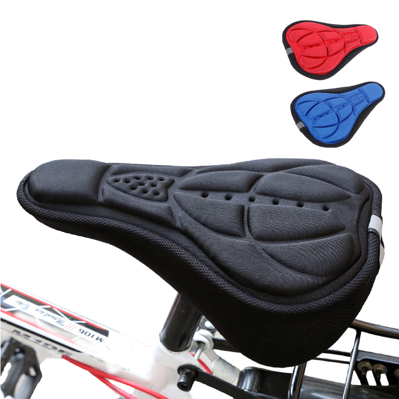 Silicone Bicycle Saddle 3D Foam Seat Outdoor Riding Waterproof Cover And Dustproof Accessorie