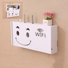 Беспроводной Wi-Fi роутер Коробка Для Хранения ПВХ панель полка настенный штекер кронштейн кабель настенный органайзер для хранения на полке домашний декор