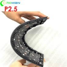 Módulo de led de pared de vídeo led para interiores, flexible, a todo color, p2.5, 320x160mm, 128x64 píxeles, SMD2020, SMD2121