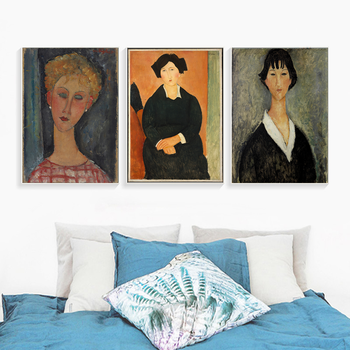 Amedeo Modigliani Best Canvas Painting Print Living Room Home Decoration Artwork Modern Wall Art Oil Painting Posters Pictures image