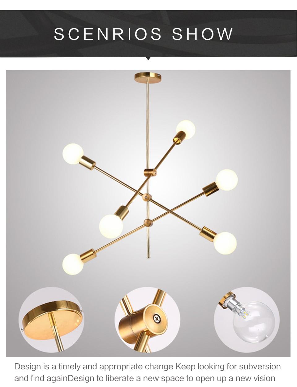 Luminária pendente nobre, estilo nórdico, moderna, para