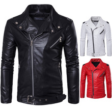 Осень и зима новые продукты EBay Повседневный простой отложной воротник приталенное кожаное пальто мужское пальто из искусственной кожи Pu Locomoti