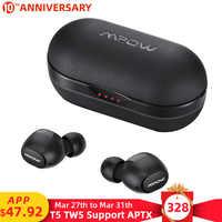 Mpow ipx7 T5/M5 TWS słuchawki bezprzewodowe słuchawki douszne Bluetooth 5.0 zestaw słuchawkowy wsparcie Aptx 42h czas odtwarzania dla iPhone XS Xiaomi Huawei