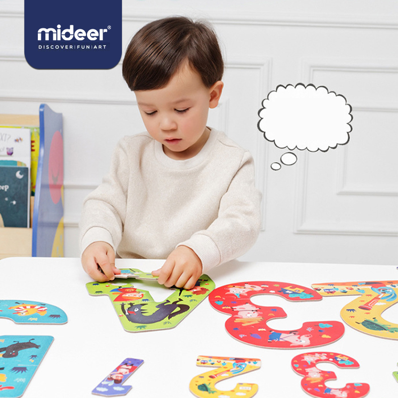 MiDeer Baby Puzzle Games Education Toddler 2Years+ 15PCS Number Creative Intelligence FairyTale Nice Packing Gifts For Kids