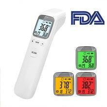 Termômetro frontal digital bebê adulto não-contato laser arma de temperatura do corpo da orelha termômetro doméstico médico infravermelho febre