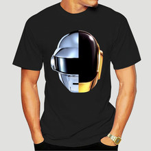 T-shirt Homme Blanc - Daft Punk Casque Harder Better Faster Stronger Musique T-Shirt Short Sleeve Fashion T Shirt 1117D
