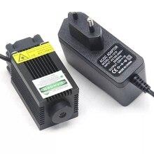 Высокая мощность 100 мВт 532 нм зеленый лазер диод модуль точка свет w% 2F 12 В адаптер 33x55 мм