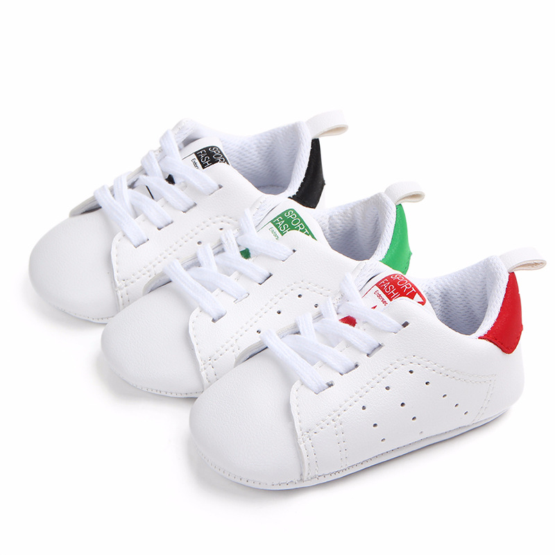 Baby Shoes Boy Girl Solid Sneaker Cotton Soft Anti-Slip Sole Newborn Infant First Walkers Toddler Casual Sport Crib Shoes image