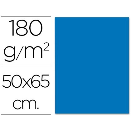 CARDBOARD LIDERPAPEL 50X65 CM 180G/M2 BLUE 125 Units