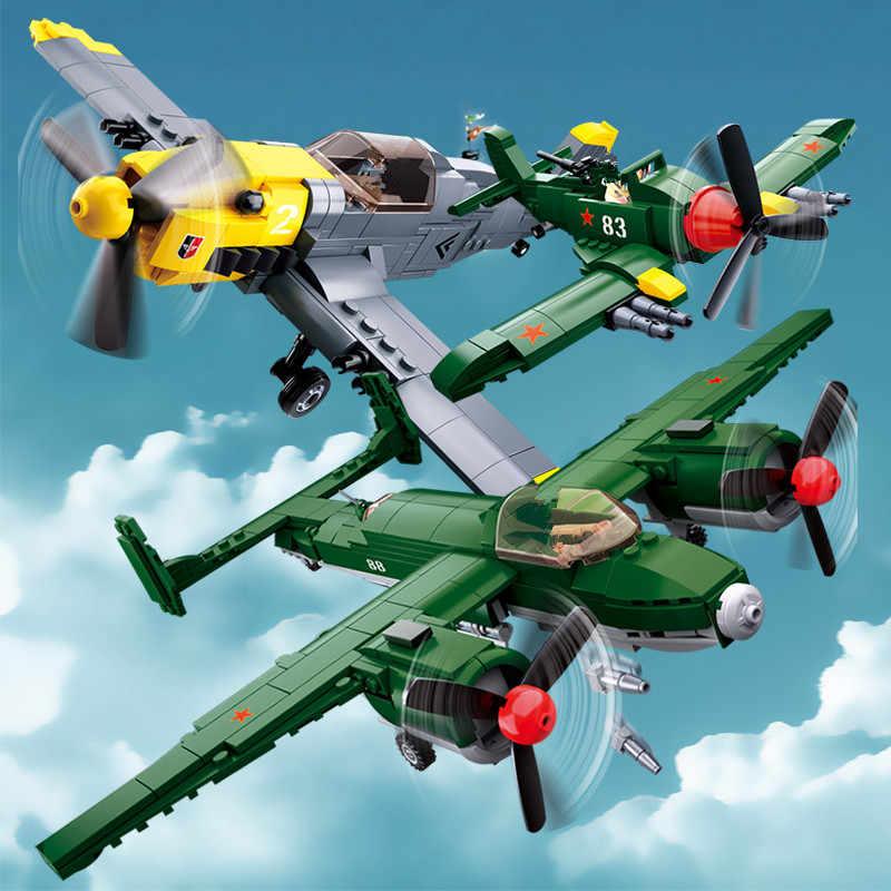 Militare WW2 Army Air Forces BF-109 Caccia Bombardiere TU-2 Unione Sovietica LegoINGLs Building Blocks Mattoni Bambini Giocattoli Playmobil