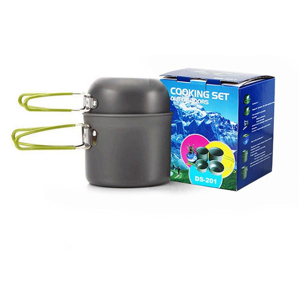 Poêle extérieur Camping ensemble pot portable combinaison en alliage d'aluminium pot split pique-nique poêle camping pot ensemble batterie de cuisine kit