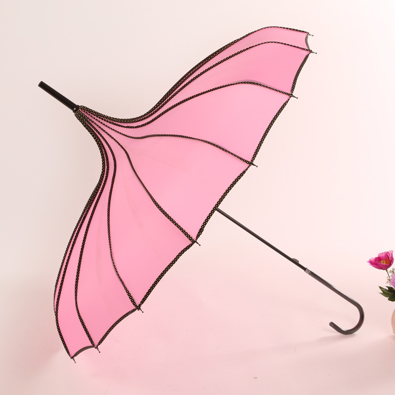 Creative Fashion Covered Edge Pagoda Umbrella Wholesale Sun-resistant Princess Umbrella Business Gift Umbrella Manufacturers Dir