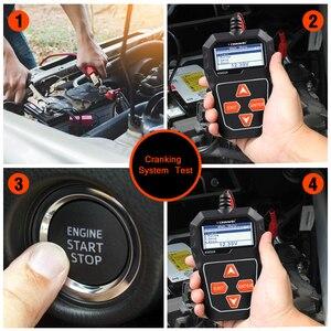 Image 4 - KONNWEI KW208 12V Tester akumulatora samochodowego cyfrowy Tester diagnostyczny motoryzacyjny analizator pojazdu rozruchu ładowania skaner narzędzia