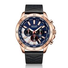 Erkek Kol Saati MEGIR Watch Men Fashion Sport Quartz Mens Watches Top Brand Luxury Military Watch Relogio Masculino Zegarek Mesk jedirmens watches military sport quartz watch men fashion chronograph leather wristwatch relogio masculino erkek kol saati n95