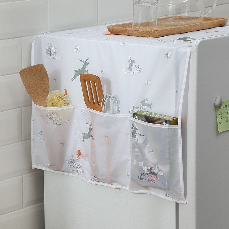 Multi-Purpose Washing Machine Top Cover Fridge Dust Cover Waterproof Refrigerator Covers