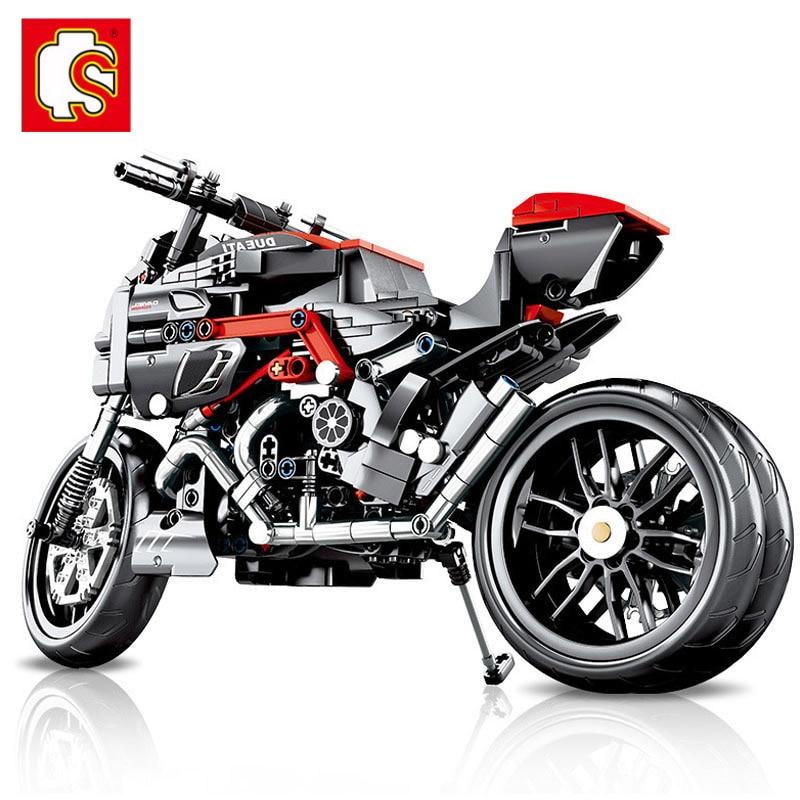 City-Toys Bricks Building-Blocks Expert Load Car-Creator Technic Gift Classic Motorcycle-Moto-Off