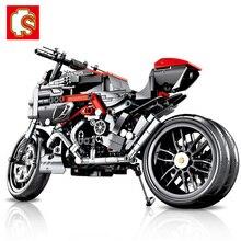 SEMBO 702 Chiếc Technic Xe Máy MOTO Giảm Tải Trọng Xe Người Tạo Chuyên Gia Xây Dựng Thành Phố Đồ Chơi Dành Cho Trẻ Em Bé Trai Cổ Điển Viên Gạch quà Tặng