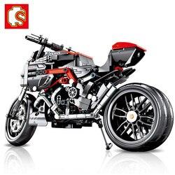 SEMBO 702 sztuk Technic motocykl MOTO off load Car Creator Expert Building Blocks zabawki miejskie dla dzieci chłopcy klasyczne cegły prezent