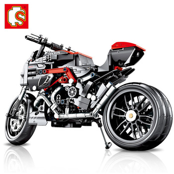 SEMBO 702pcs Technic Motorcycle MOTO off load Car Creator Expert Building Blocks City Toys For Children Boys Classic Bricks Gift