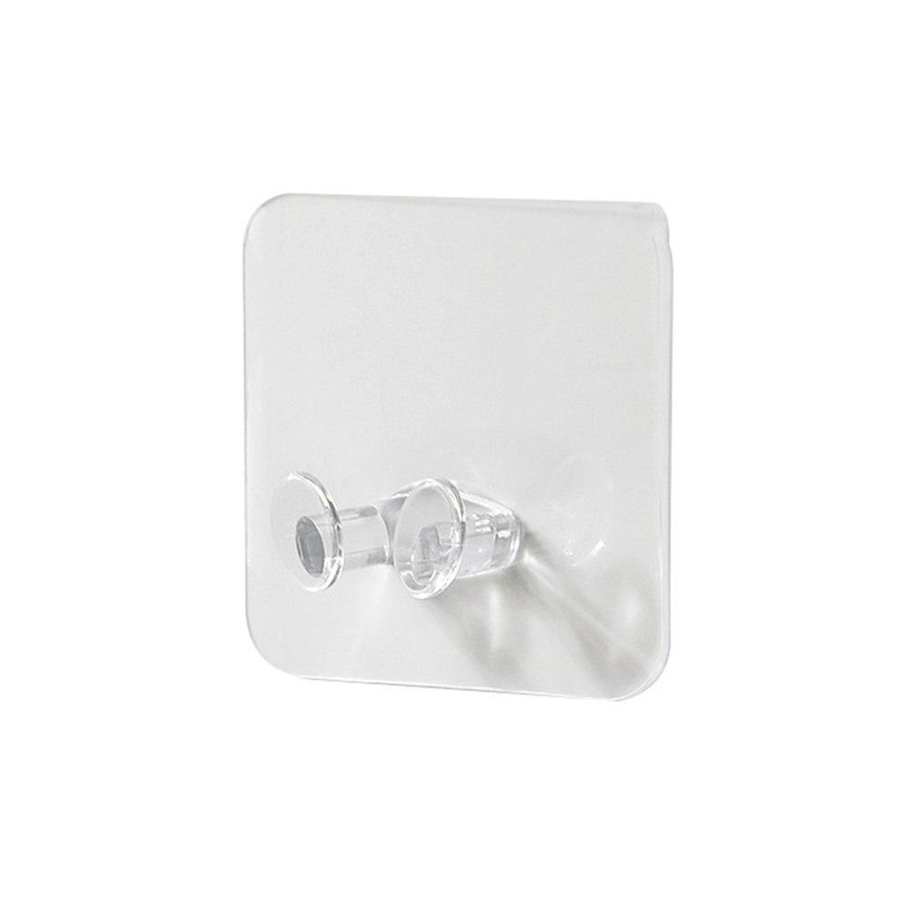 Transparent Power Plug Hook Adhesive Storage Hooks Wire Plug Bracket Hooks Two-Phase Plug Can Be Stored