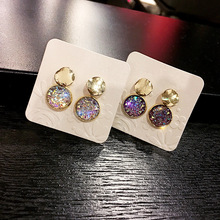 Pearl earrings Silver 925 ladies silver needle simple Purple Citrine LotusE2845ME095CC