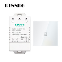 DC7 36V KTNNKG 40A relay remote control switch with wall touch transmitter for controlling high power appliances up to 4000W