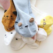 Носки для новорожденных от 0 до 3 лет теплые гольфы с рисунками животных для мальчиков, спортивные носки детские носки