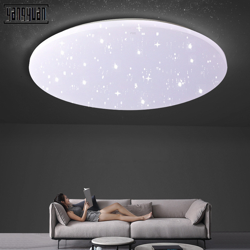 New LED Ceiling Light Round Starry Sky Adjustable Ceiling Lamps Lighting for Living Dining Room Bedroom Kitchen Light Fixtures